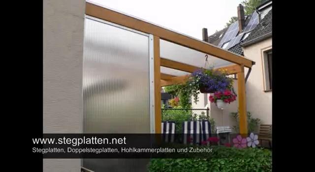 Stegplatten Lichtplatten Doppelstegplatten Als Vordach
