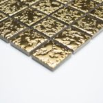 Keramikmosaik uni gold gehämmert