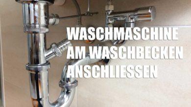 Photo of Waschmaschine am Waschbecken anschließen