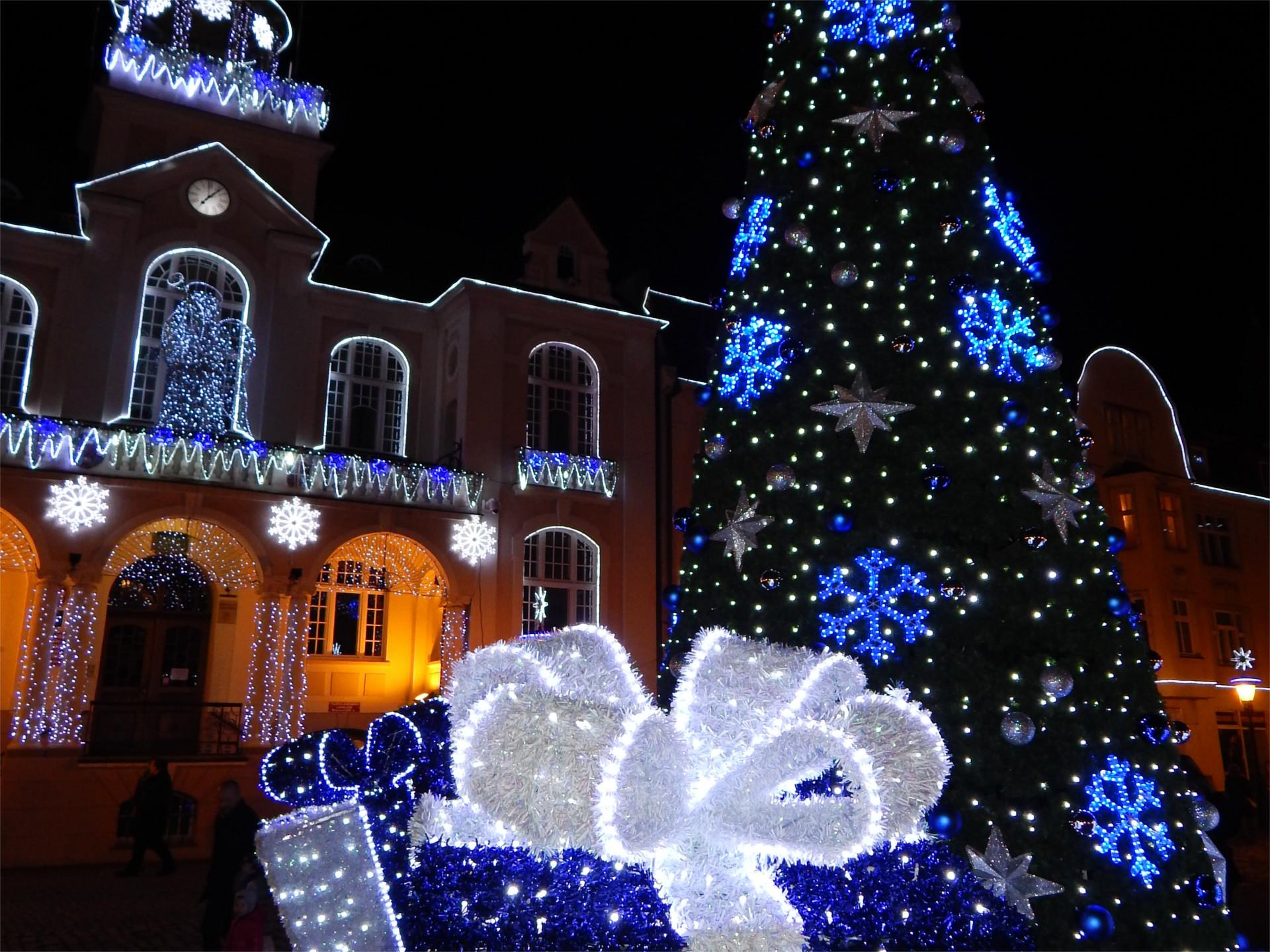 Weihnachtsdekoration außen